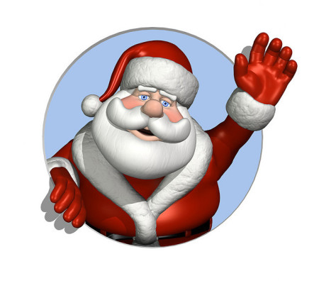 santa waving | tips to stay healthy during the holidays | Perpetual Wellbeing
