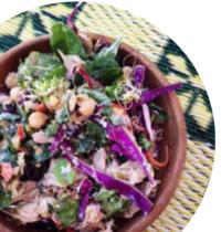 Detox salad with Tahini