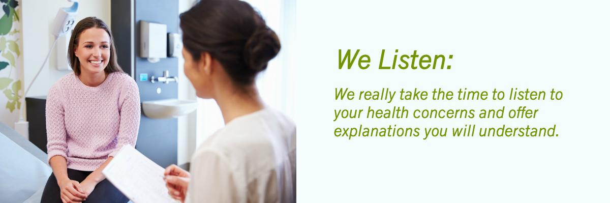 Naturopath brisbane listening to patient